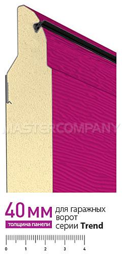 Панель 40-мм для секионных ворот Alutech Trend