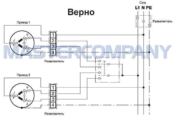 Схема электропривода для роллет