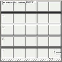 Ворота серии AluPro с четырьмя импостами (увеличенное количество вертикальных импостов)