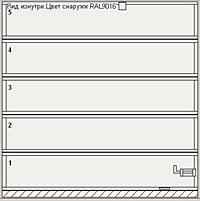 Ворота серии AluTherm без вертикальных импостов (ширина ворот до 3000 мм)